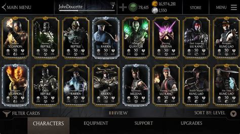 mortal kombat x mobile android character you desire or equipment you desire ebay