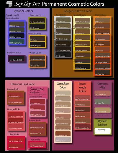pigment colors softap pigment color chart