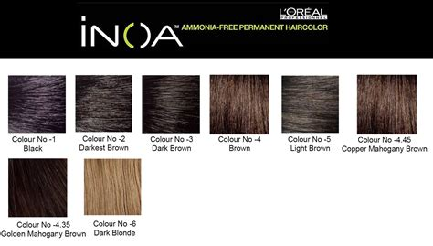 inoa hair color shade chart best hair color 2017 buy l oreal professionnel inoa hair colour 3 no 4 35 golden mahogany brown 1 pc