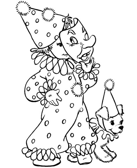 clown coloring pages pdf download clown costume halloween coloring pages print out