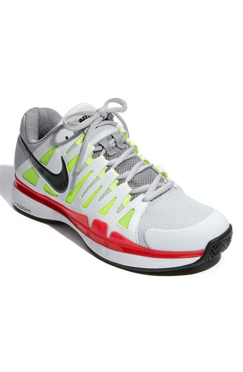 nike zoom vapor 9 tour tennis shoe in gray for