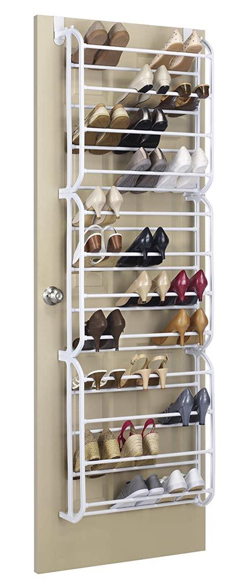 white hanging shoe rack behind the door ideas whitmor resin 36 pair over the door shoe rack savings guru