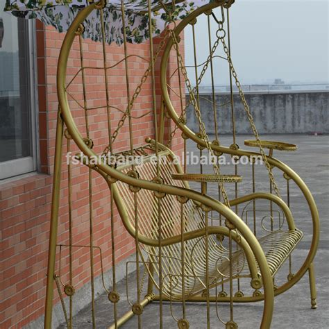 wrought iron swing with stand outdoor patio garden antique metal wrought cast iron swing