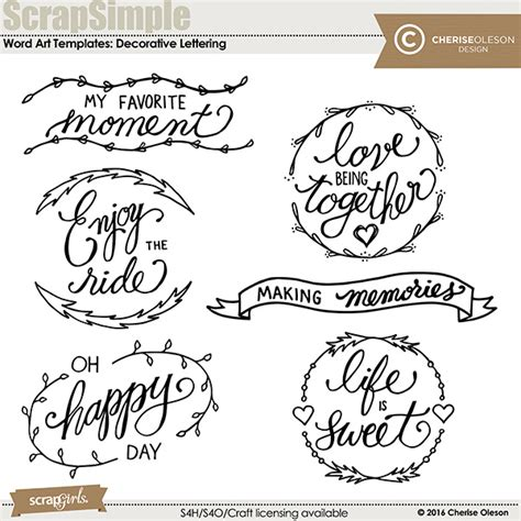 templates for word art digital scrapbooking word art templates decorative