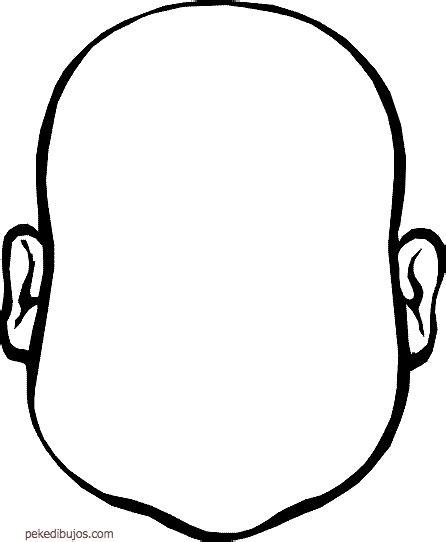 dibujos de caras en blanco para colorear