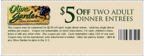 Gardeners Coupon Code by Olive Garden Coupon Printable