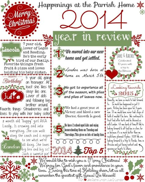 Year In Review Card Template by 17 Best Ideas About Letters On Santa