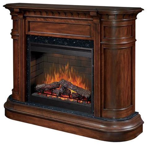 traditional dimplex carlyle walnut electric fireplace