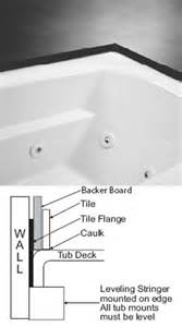 bathtub tile flange mti basics mti whirlpool air tub soaking bathtub
