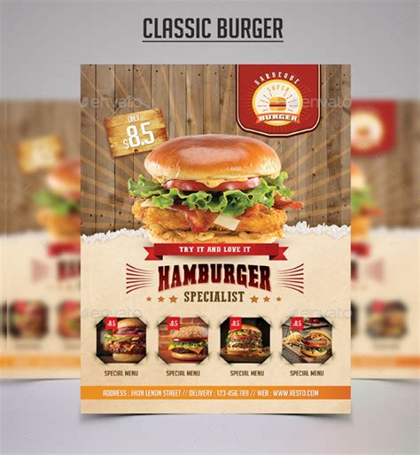template flyer burger 25 burger flyer templates free premium download