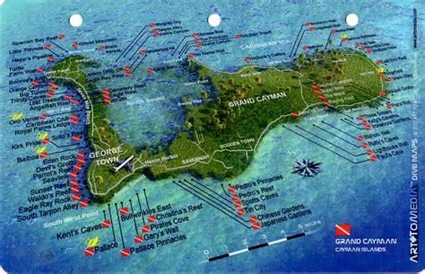 dive site stingray city grand cayman 3d dive site card