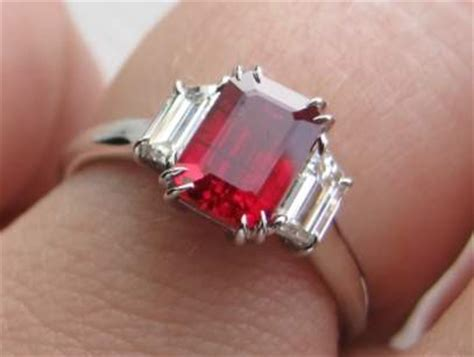 Ruby Cutting Ring Silver setting ideas for gemstone jewelry at ajs gems