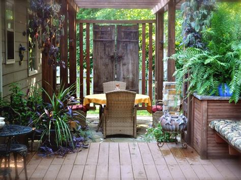 patio space backyard privacy ideas hgtv