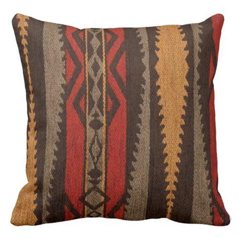 tribal pattern pillows tribal geometric brown red orange stripes pillow zazzle