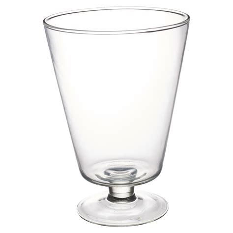 Shuma Plain Footed Bowl 16cm large clear glass vase footed centrepiece decorative flower display table ebay