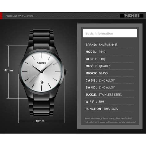 Jam Tangan Skmei 9140 skmei jam tangan analog pria 9140cs black silver