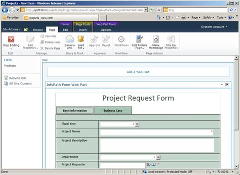 infopath form templates prescriptive guidance infopath list forms implementation