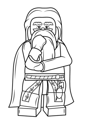 lego rubeus hagrid minifigure coloring page free lego albus dumbledore coloring page free printable