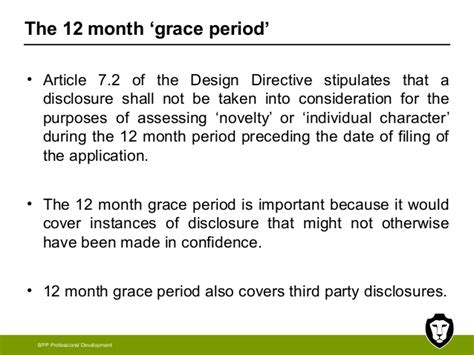 design application grace period presentation on eu and uk design law given before bpp