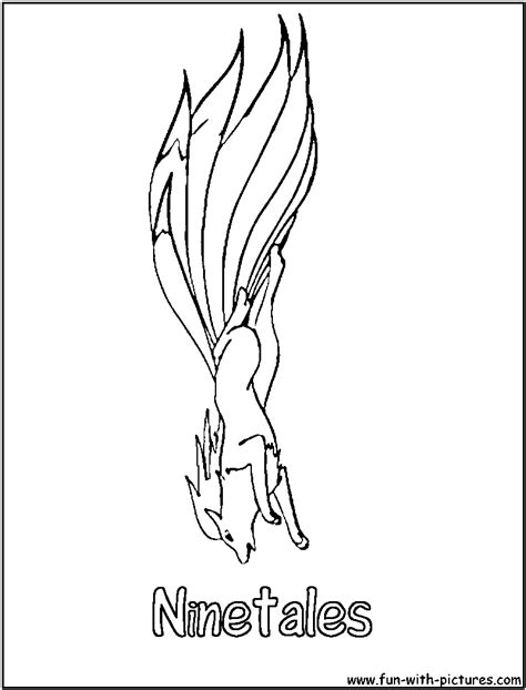 pokemon coloring pages ninetales ninetales coloring page