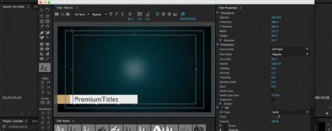 Credit Title Template Premiere How To Create And Title Templates In Premiere Pro