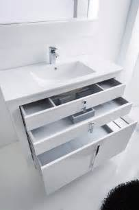 White Powder Room Vanity Roma Bathroom Vanity 40 Quot White High Gloss Lacquered