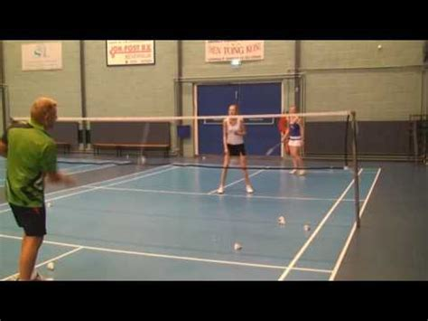 tutorial badminton youtube duinwijck badminton dubbelspel training youtube