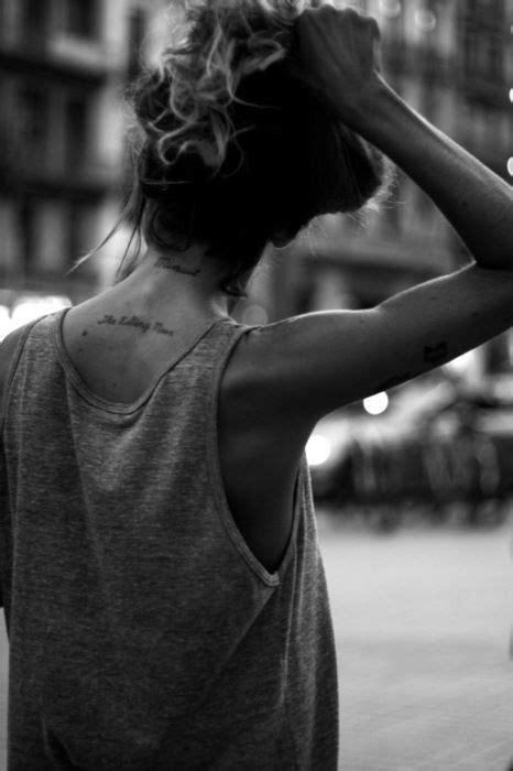 ne yo tattoo on neck been thinking of getting quot je ne regrette rien quot on my back