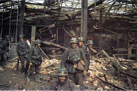 siege army war ii in color german assault team in stalingrad