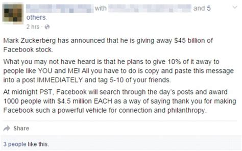 Has Posted A Message On Websit by Zuckerberg Isn T Giving Away Stock As
