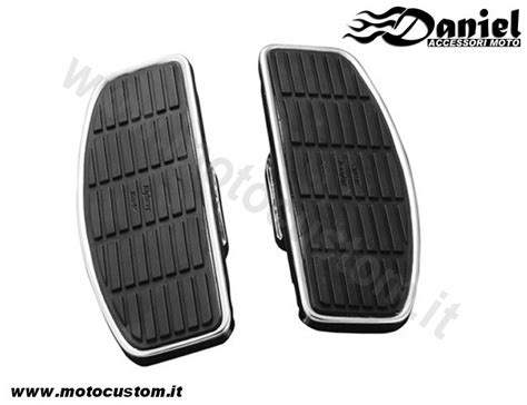 pedane per moto custom pedane ant larghe varie modelli daniel accessori moto