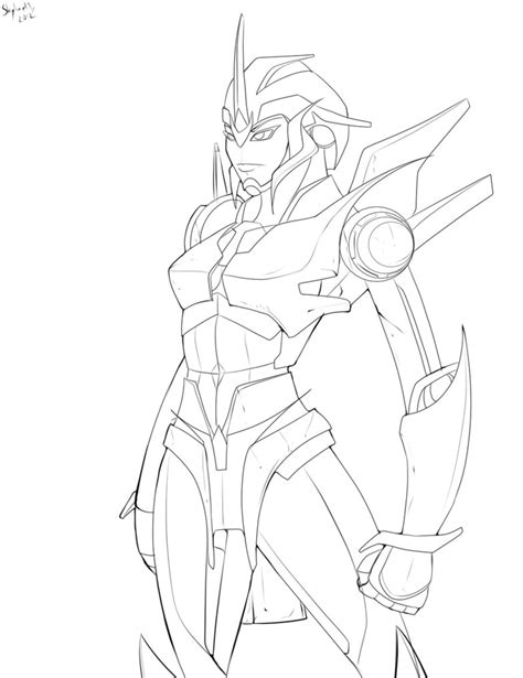 girl transformer coloring page how to draw arcee transformer