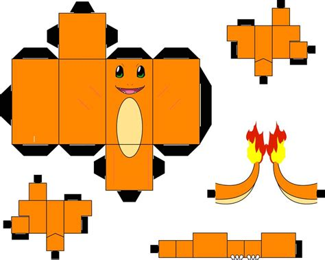 Papercraft Charizard - pin papercraft printouts on
