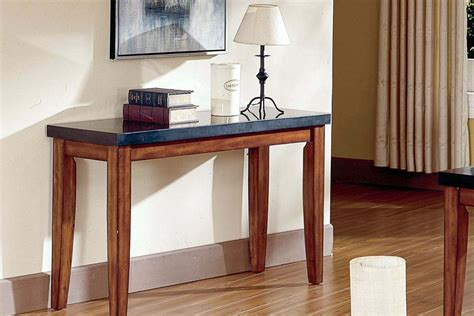 granite sofa table city wood granite sofa table at gardner white