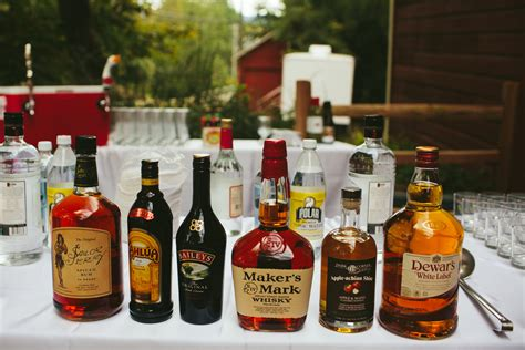 Backyard Wedding Checklist How To Set Up A Diy Bar For Your Wedding