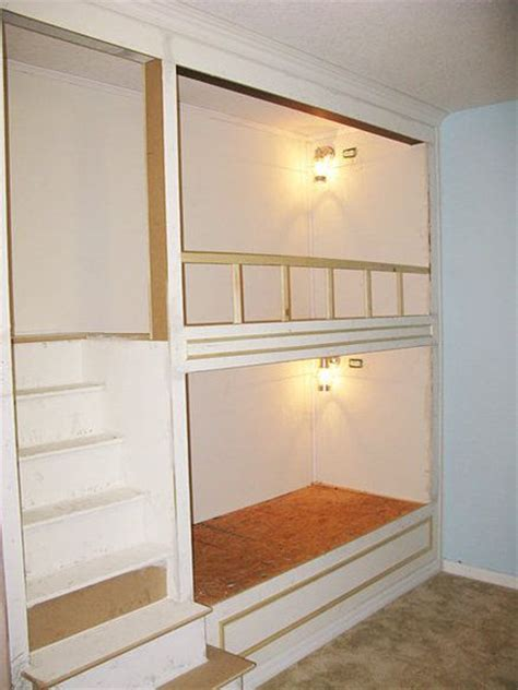 Built In Bunk Beds Plans Link To Construction Plans Steps For Built In Bunk Beds Ranch Project Pinterest Built In