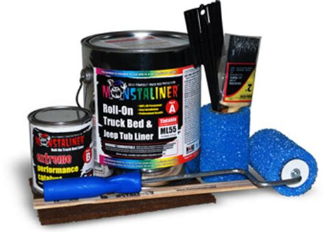 Roll On Truck Bed Liner Lowes by Monstaliner Do It Yourself Roll On Truck Bed Liner