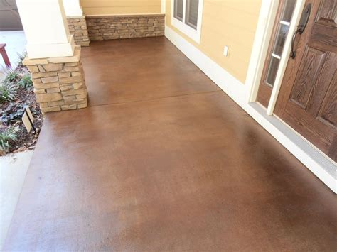 stained concrete ideas for exterior patios porches