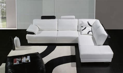 black and white curved back without arm modern dining l shaped couches l shaped white leather couch with low