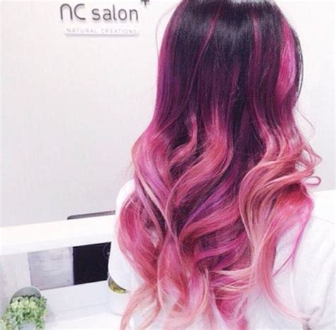 bright color ombre hairstyles the gallery for gt black girls with purple ombre hair