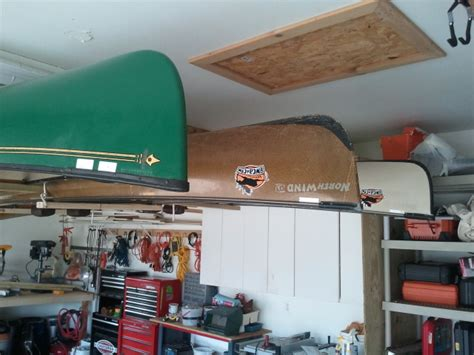 How To Hang Canoe In Garage by Bwca Hanging A Canoe Boundary Waters Listening Point