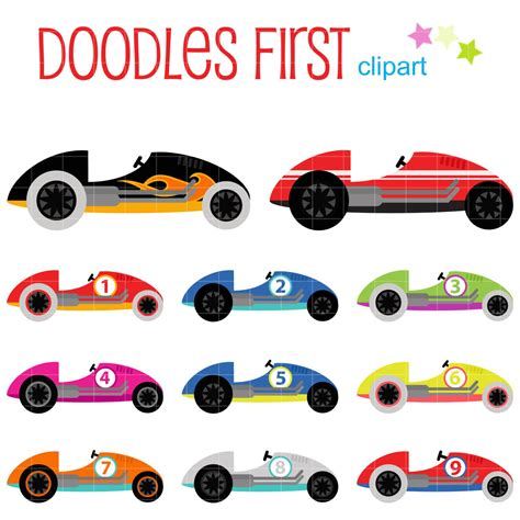 race car clip race cars digital clip for scrapbooking card