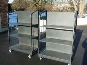 Garage Shelving With Casters Used Heavy Duty Metal Shelving Shelves Casters Garage