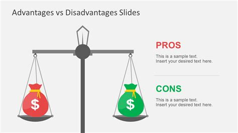 advantages vs disadvantages powerpoint template
