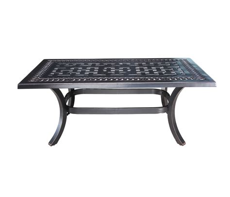 aluminum rectangular coffee table patio at sun country
