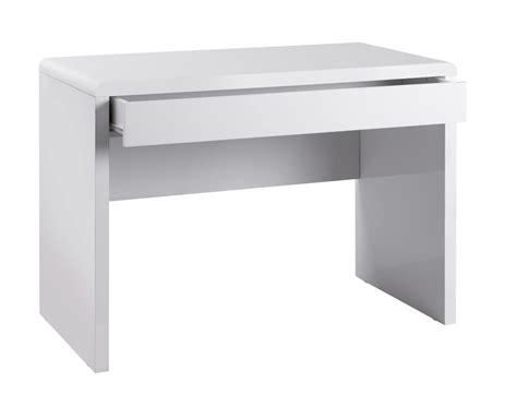 High Gloss Computer Desk White White Gloss Computer Desk Chrystal Hill Ltd