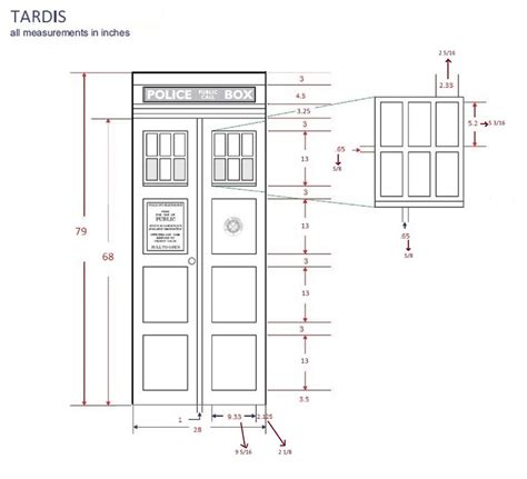 tardis diagram make your own tardis door