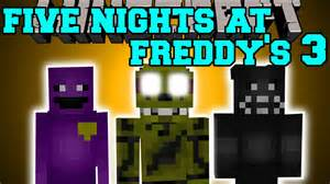 Minecraft five nights at freddy s 3 mod new animatronics amp pure evil