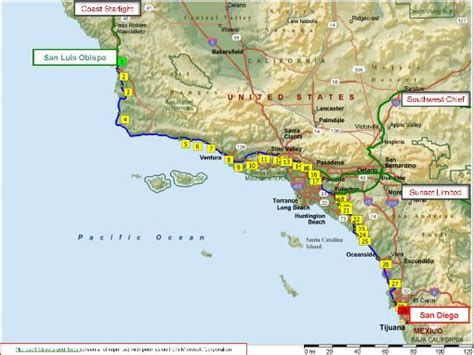 amtrak route map southern california 111 best images about list on trips
