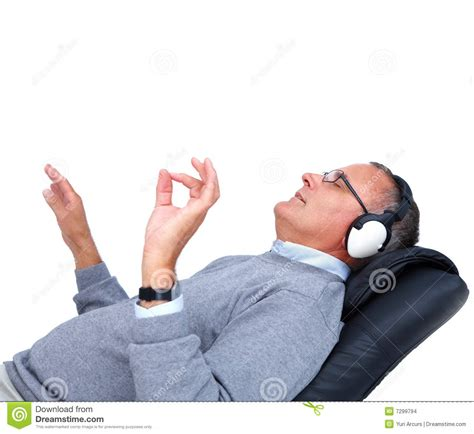 A Relaxed relaxed listening to copyspace stock